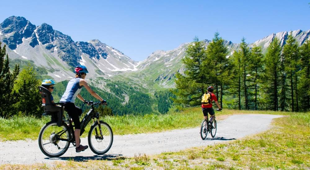 In montagna con la bicicletta
