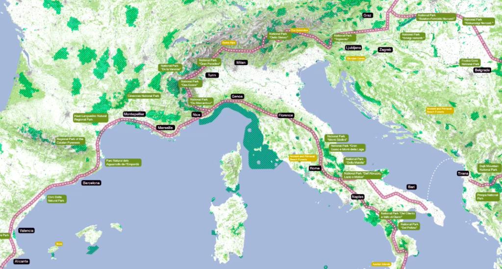 Mappa progetto 'Parco Italia'